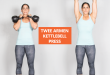 twee armen kettlebell press